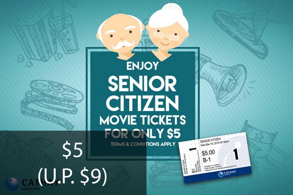 Enjoy Senior Citizen Movie Tickets