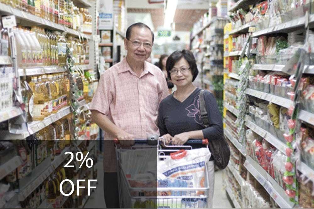 NTUC FairPrice 2% Discount to Seniors on Tuesdays*