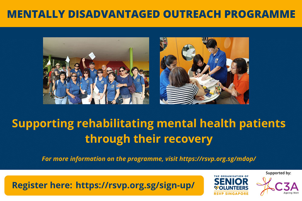 Interested in volunteering? – Mentally Disadvantaged Outreach Programme