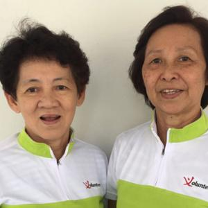 Madam Ng Geok Thuay and Madam Wong Yoke Hun , 64