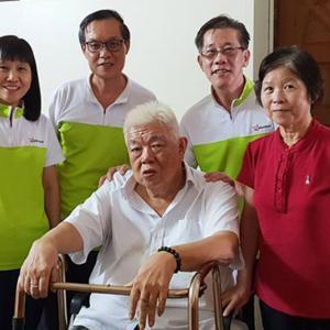 Mr Walter Chan Yee Cheong and wife , 56